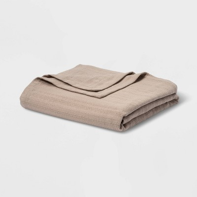 Textured Stripe 100% Cotton Bed Blanket - Threshold™