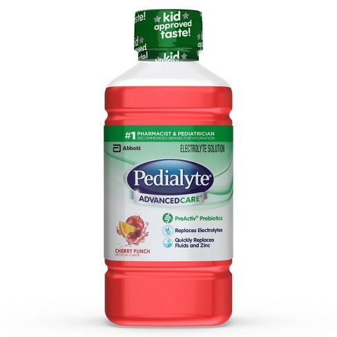 Pedialyte® AdvanceCare Oral Electrolyte Solution - Cherry Punch 1L - image 1 of 4
