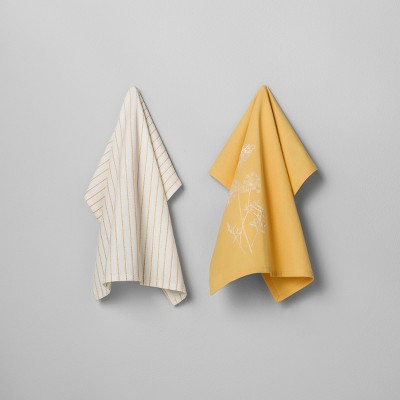 2pk Kitchen Towel Golden Yellow - Hearth & Hand™ with Magnolia