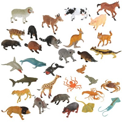 Kaplan Early Learning Wildlife Animals Collection  - Set of 32