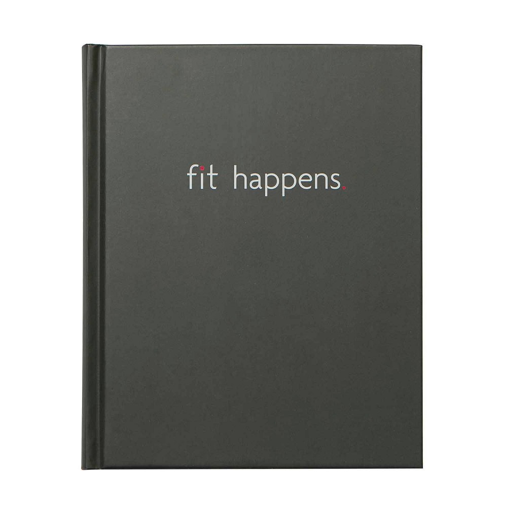 Image of Fit Happens Book Bound Guided Journal Black- Fitlosophy