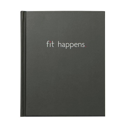 Fit Happens Book Bound Guided Journal Black- Fitlosophy - image 1 of 4
