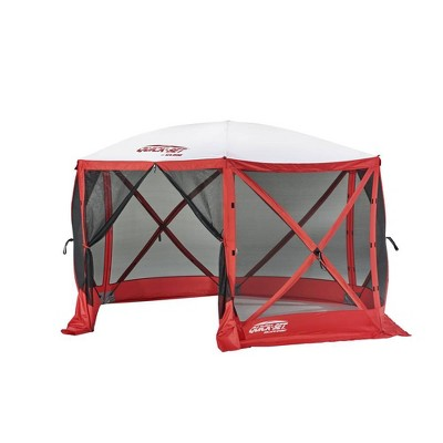 Quick-Set Escape Sport 11.5' 8 Person Outdoor Camping Canopy Shelter Tent, Red