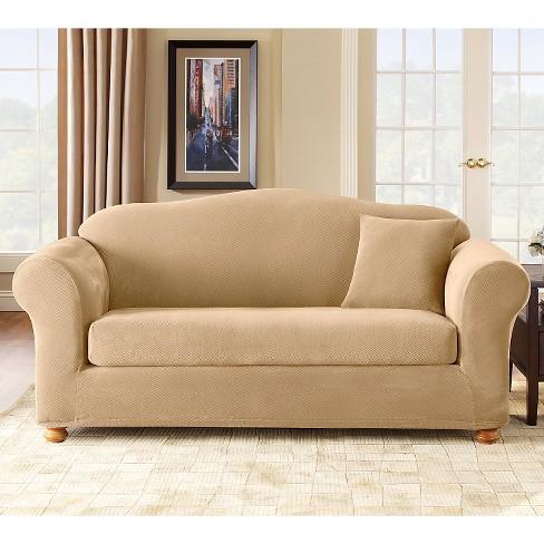 Stretch Pique 2pc Sofa Slipcover Sure Fit Target