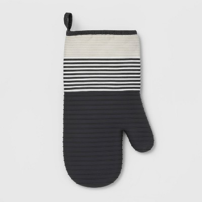 Stripe Silicone Oven Mitt Gray - Project 62™