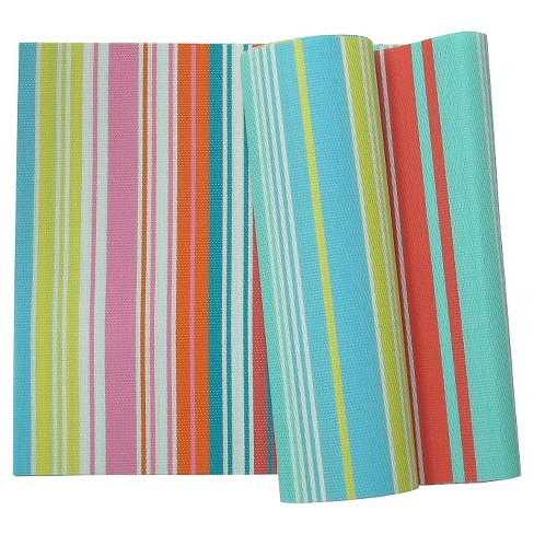 Stripe Pattern Table Runner - Blue/Pink - image 1 of 1