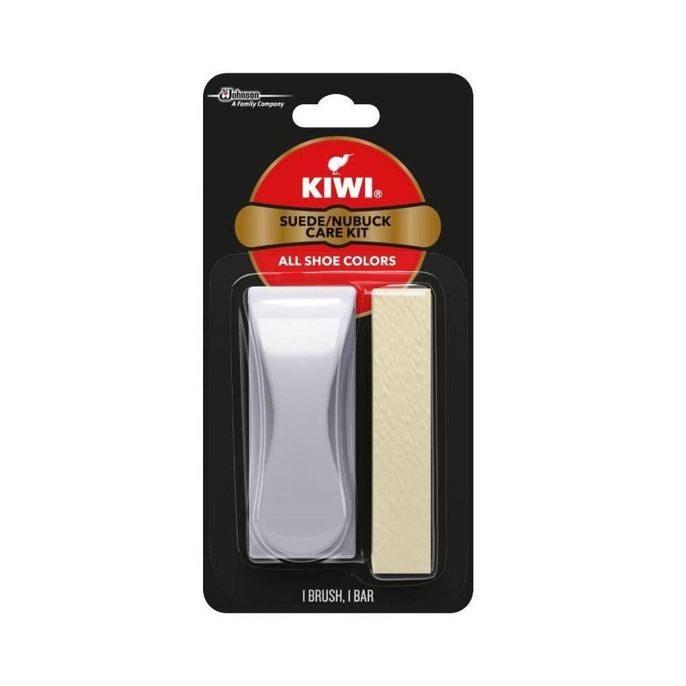 Image of KIWI Suede & Nubuck Shoe Care Kit, Adult Unisex, White