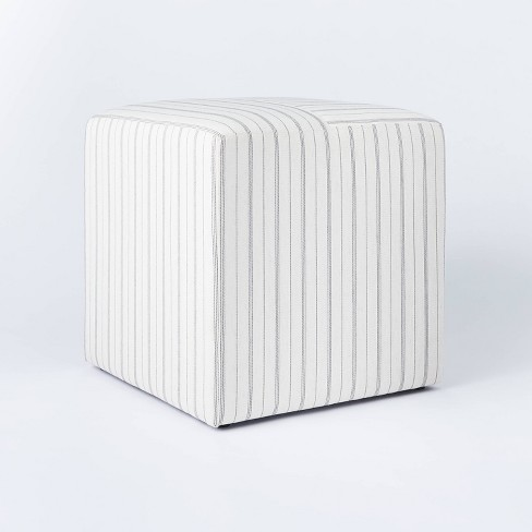 Lynwood Square Upholstered Cube - Threshold™ designed with Studio McGee - image 1 of 4