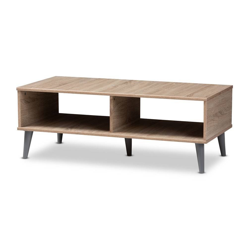 Pierre Coffee Table Oak Brown/Gray - Baxton Studio