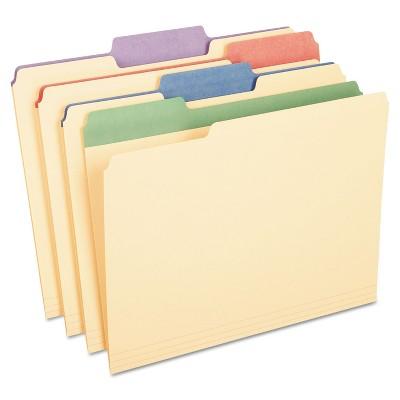 "Pendaflex Color Tab File Folders 1/3 Cut 3/4"" Exp. Letter 50/BX 84101"