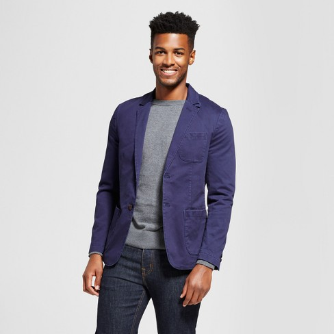 Mens Standard Fit Deconstructed Chino Blazer Goodfellow Co