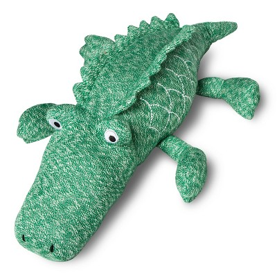 Alligator Knit Throw Pillow 22 X5  - Green - Pillowfort™