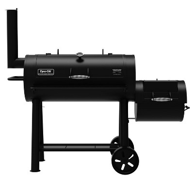 Dyna Glo Charcoal Barrel and Offset Smoker - DGSS962CBO - Black