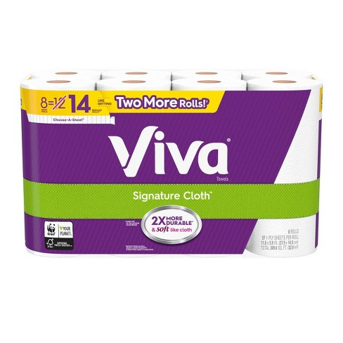 Viva Signature Cloth Choose-A-Sheet Paper Towels - 8 Giant Rolls - image 1 of 5