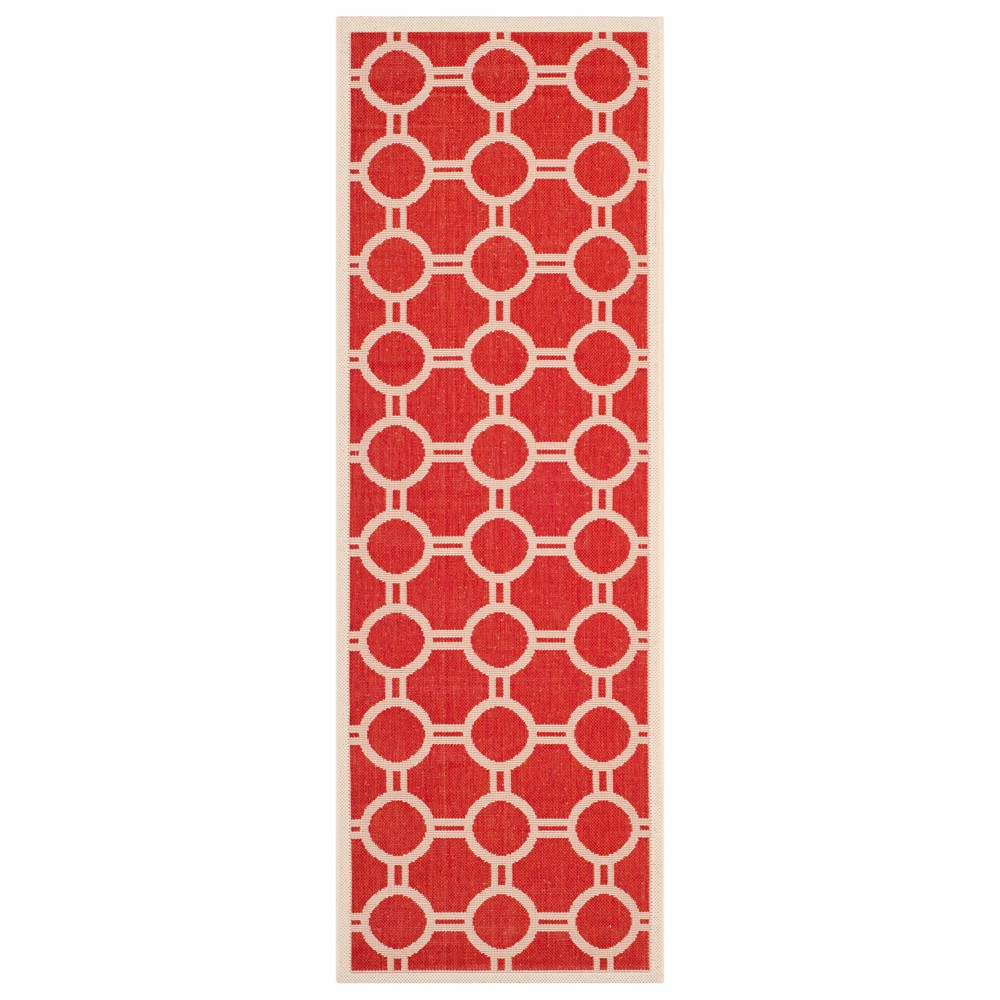 Nordmand Rug 2'3X10' - Red/Bone (Red/Ivory) - Safavieh