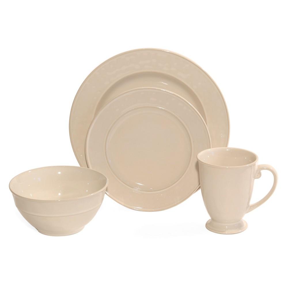 Baum Bros. Wellington 16pc Dinnerware Set Ivory
