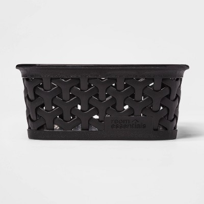 Y Weave Mini Cube Storage Basket Black - Room Essentials™