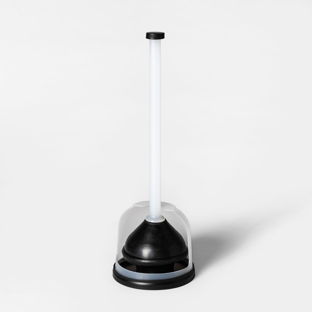 Rubber Reusable Plunger Frosted White/Black - Room Essentials was $14.99 now $10.49 (30.0% off)