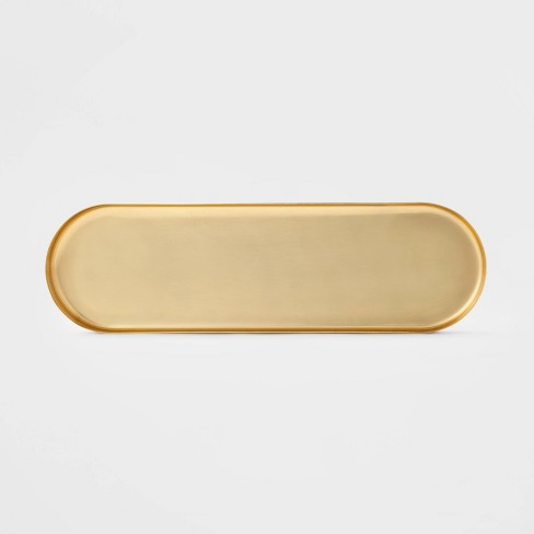 "20"" x 6"" Decorative Brass Tray Gold - Project 62™ - image 1 of 4"