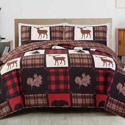 Great Bay Home Stonehurst Lodge Reversible Quilt Set