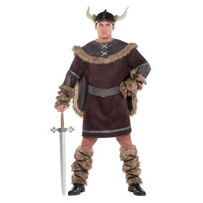 Adult Plus Viking Warrior Halloween Costume