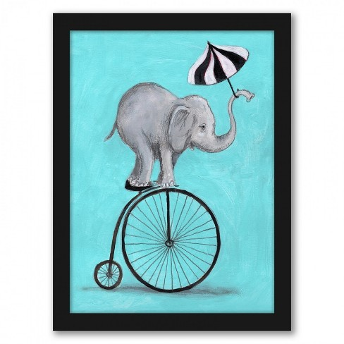 Americanflat Elephant With Umbrella By Coco De Paris Black Frame Wall Art Target