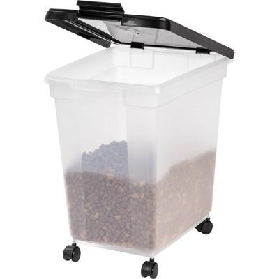 IRIS Airtight Pet Food Container - Black - 50lb