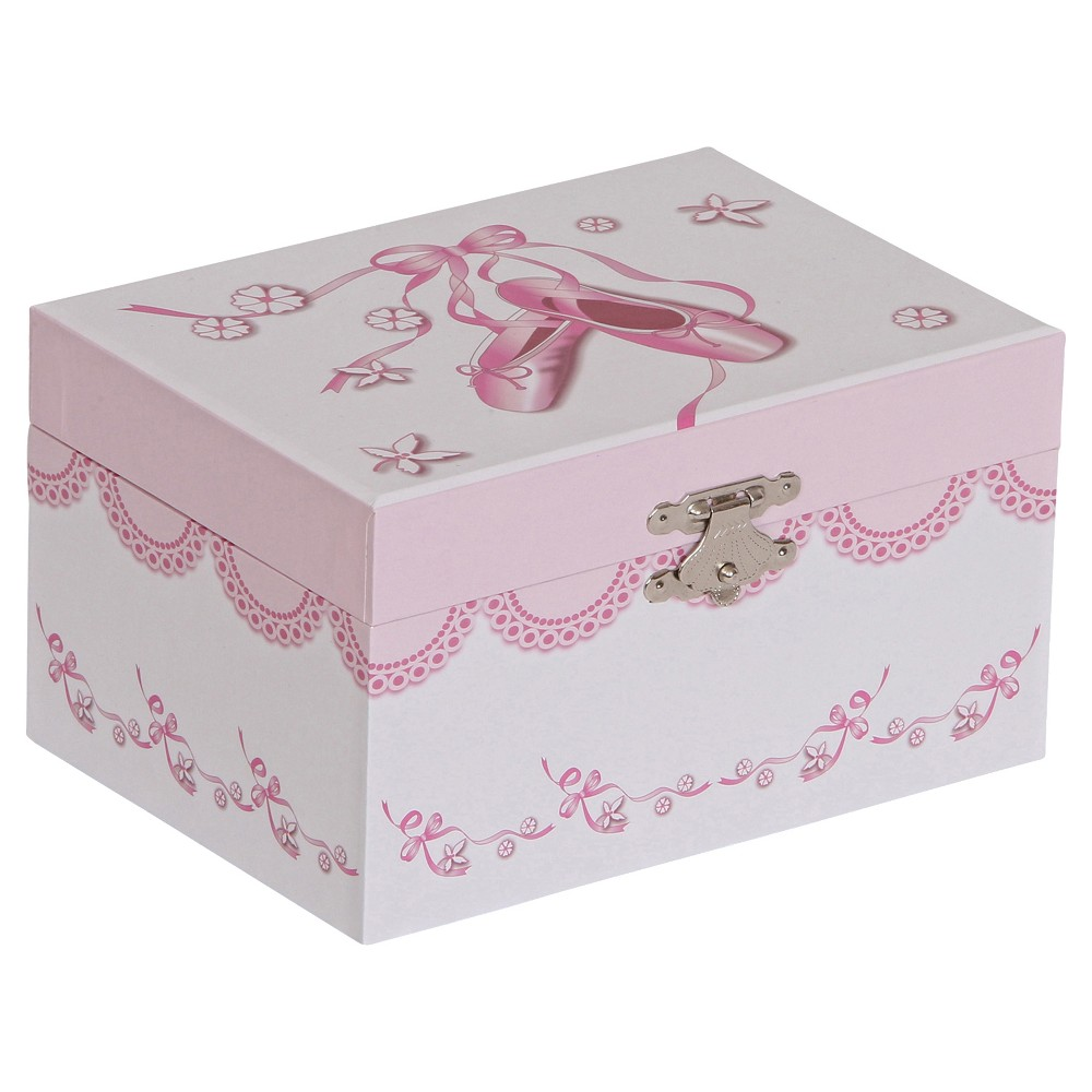 Image of Mele & Co. Clarice Girls' Musical Ballerina Jewelry Box-White, Girl's, Size: Small