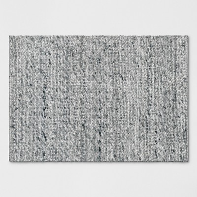 Chunky Knit Wool Woven Rug 2'x3' Gray - Project 62™