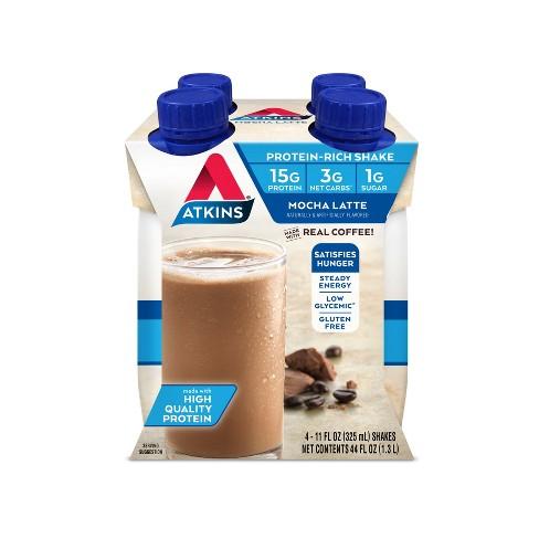 Atkins Protein Shake - Mocha Latte - 4ct - image 1 of 1