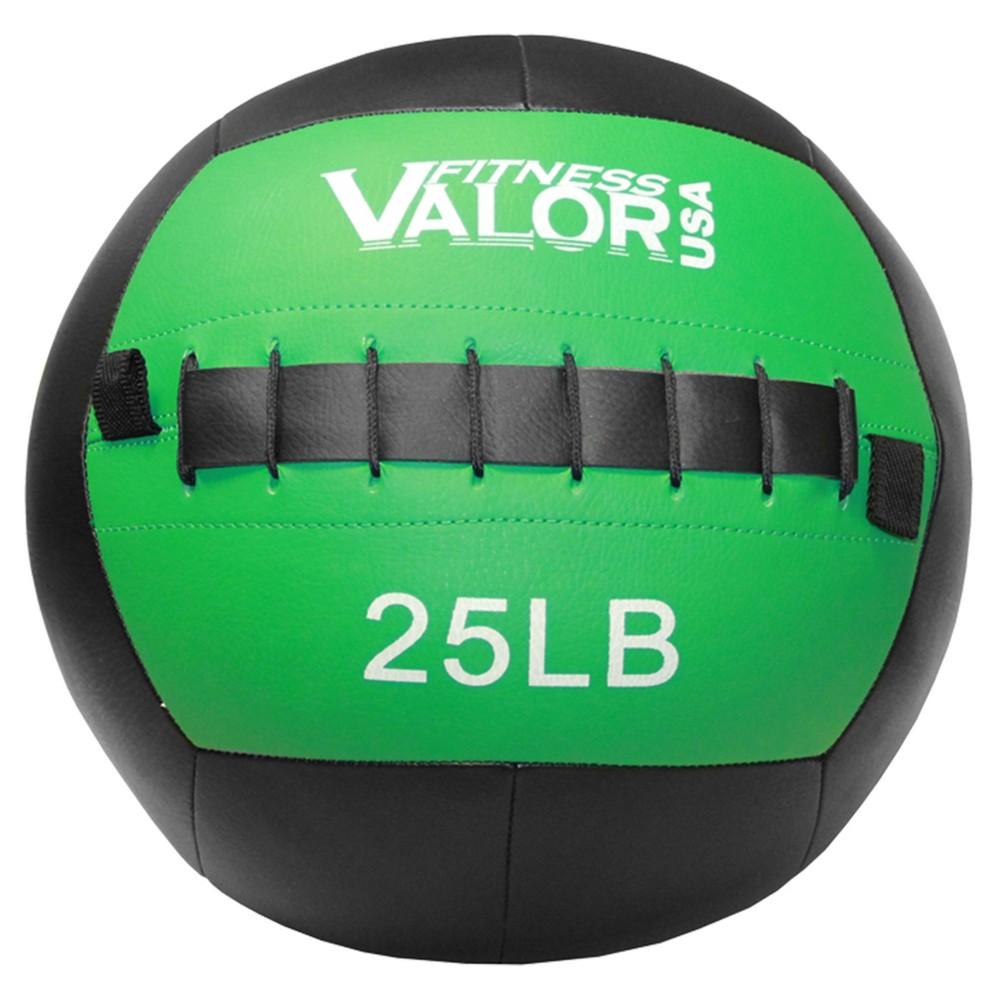 Valor Fitness WB-25 25lb Wall Ball, Black