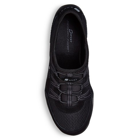 Women s S Sport By Skechers Relax d Slip On Athletic Shoes - Black ... 4bb6078e94