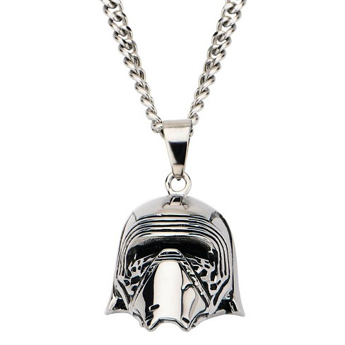 "Men's Star Wars Kylo Ren Stainless Steel 3D Pendant with Chain (22"") - image 1 of 2"