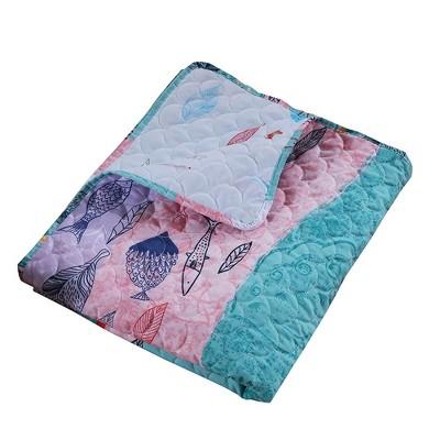 "Greenland Home Fashion Mermaid Accessory Throw Blanket - 50""x60"" in Multicolor"