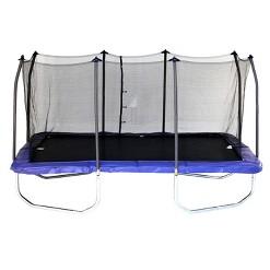 Skywalker Trampolines 15 Foot Rectangle Trampoline and Enclosure - Blue, Adult Unisex