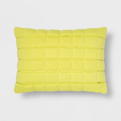 Yellow Quilted Lumbar Throw Pillow - Room Essentials™