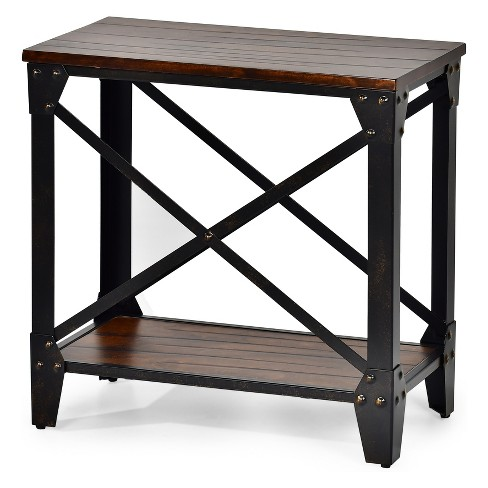 Winston Chairside End Table Rustic Cherry Steve Silver Target