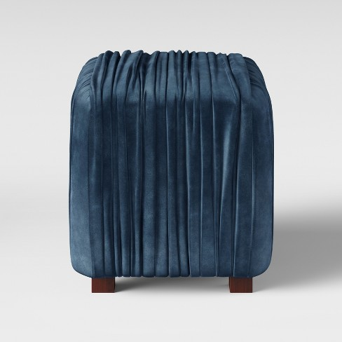 Hollyhock Ruched Velvet Ottoman - Opalhouse™ - image 1 of 3