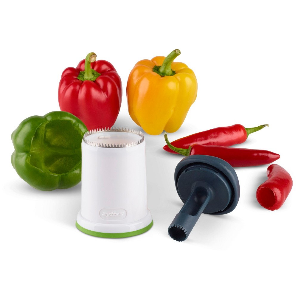 Image of Zyliss 2 in 1 Pepper Corers White