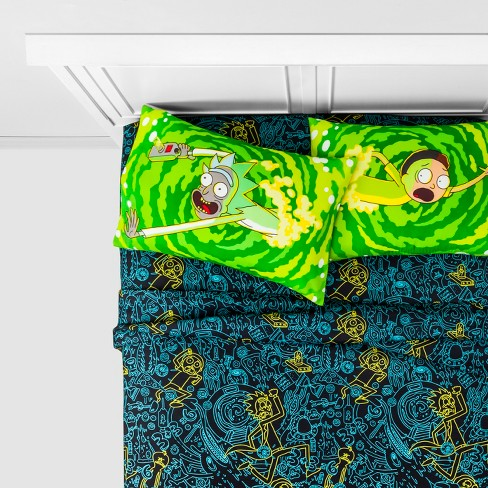 Rick and Morty Full 4pc Microfiber Sheet Set - image 1 of 3