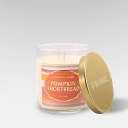 15.1oz Lidded Glass Jar 2-Wick Candle Pumpkin Shortbread - Opalhouse™