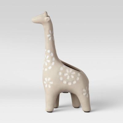 10  Earthenware Giraffe Planter Gray - Opalhouse™