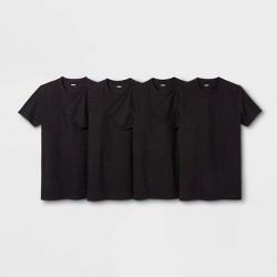 Men's Short Sleeve 4pk Crew-Neck T-Shirt - Goodfellow & Co™ Black