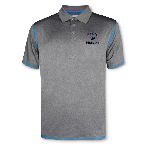 MLB Miami Marlins Men's Your Team Gray Polo Shirt - image 1 of 1