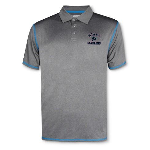 36b9895a MLB Miami Marlins Men's Your Team Gray Polo Shirt : Target