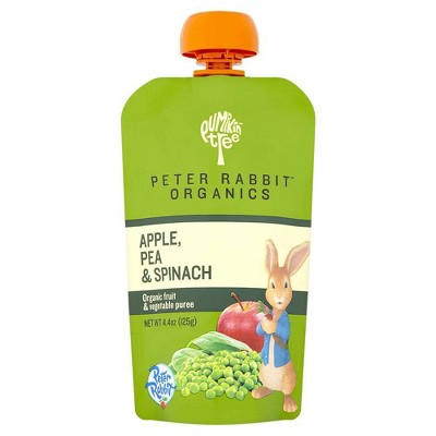 Peter Rabbit Organics Apple Pea & Spinach Baby Food Pouch - 4.4oz