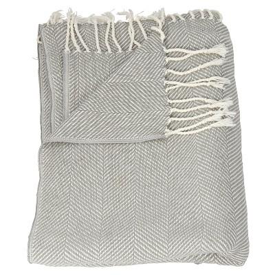 Gray Stripe Throw Blankets 50 X70  - Mina Victory