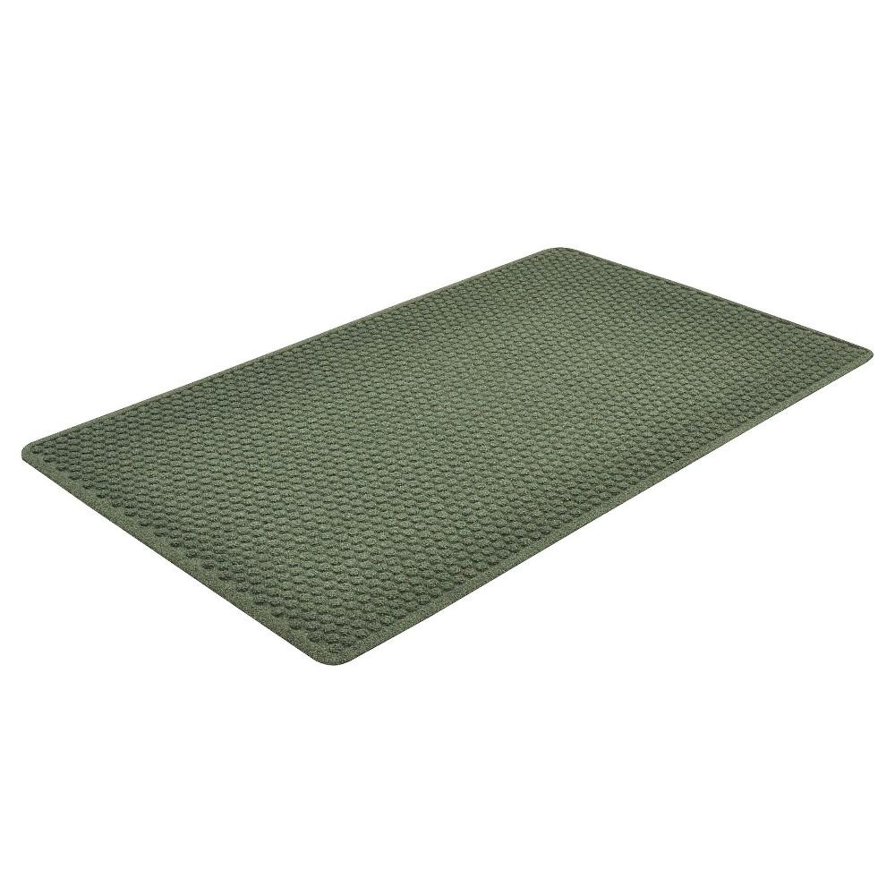 Image of Hunter Green Solid Doormat - (3'X10' Runner) - HomeTrax