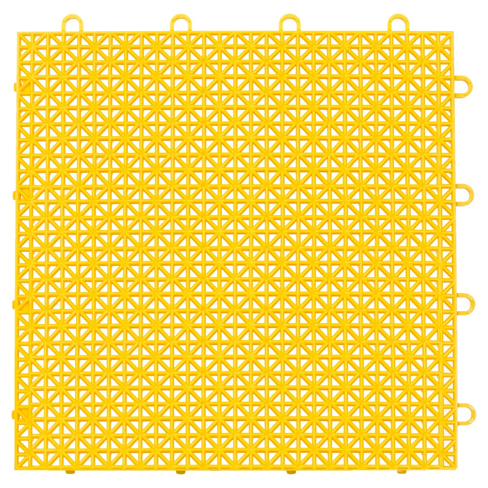"Image of ""12""""x12"""" Armadillo Floor Tile 9 Pack - Bright Yellow"""
