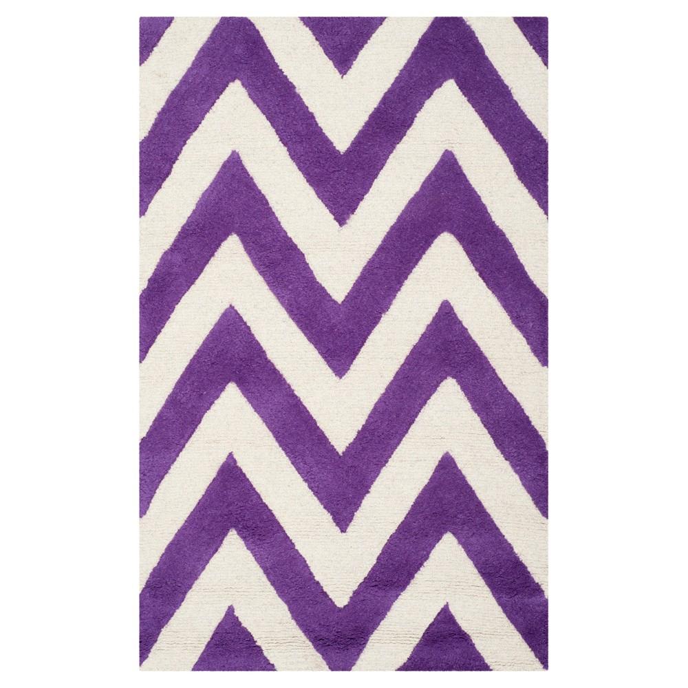 Dalton Textured Rug - Purple / Ivory (2'6 X 4') - Safavieh, Purple/Ivory
